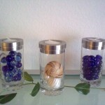 Kerzenhalter mit Glas